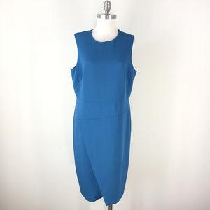 Ann Taylor 16 Peacock Blue Sheath dress Envelope
